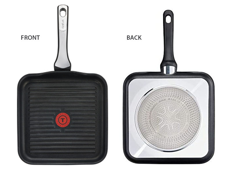 Tefal Titanium Expertise Non-stick Grill Pan 26x26cm – C6204072, Gas, Electric and Induction Grill Pan Grill Pans Grill Pans