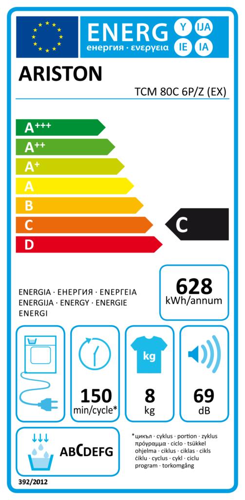 Ariston Condenser Dryer 8kg – Freestanding – TCM 80C6P Dryers Dryer