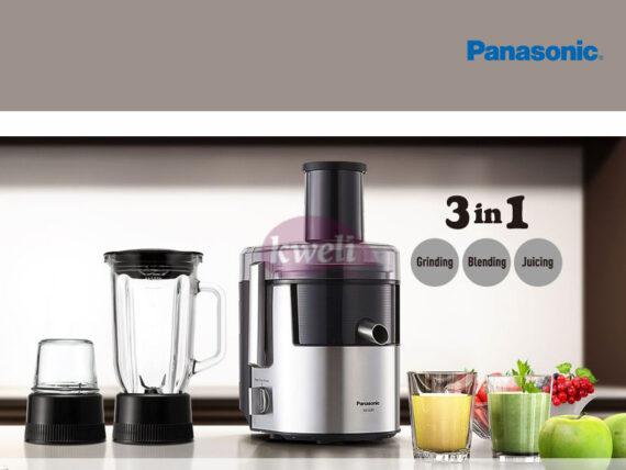Panasonic Juicer Blender, Juice Extractor with Glass Jar Blender with Grinder MJDJ31, 800w, 3-in-1 Juicer Blenders Blenders