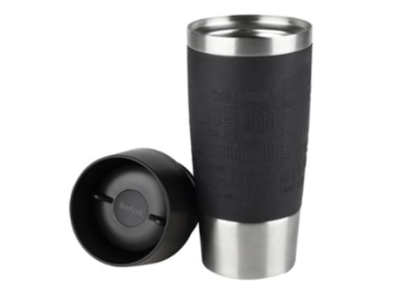 TEFAL Thermal Travel Mug 0.5 liter, Black Silver – K3081214 Travel Bottles