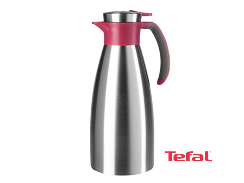 Tefal Thermos and Vacuum Jug, Soft Grip, Rasberry – K3042214 Vacuum Flasks/Jugs