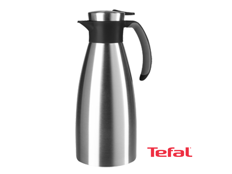 Tefal Thermos and Vacuum Jug, Soft Grip, Black – K3043214 Vacuum Flasks/Jugs