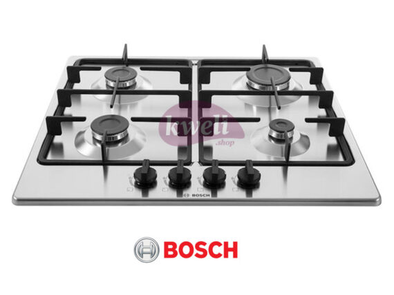 BOSCH Built-in Gas Hob, 60cm, 4 Gas Stainless Steel – Serie 4 – PGP6B5B60 Built-in Hobs