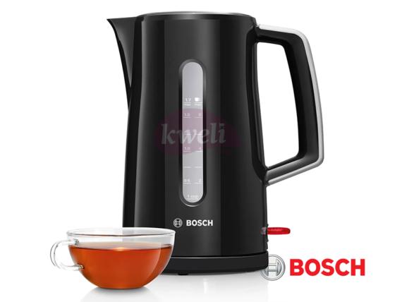 Bosch Electric Kettle, 1.7-liter, 2500-3000 watts, Black – TWK3A033GB Electric Kettles Electric Kettles