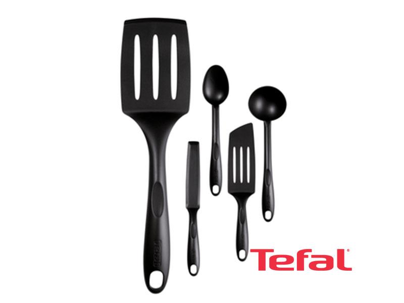 TEFAL Bienvenue Set, 5-piece Cooking Utensils and Service Set – K001A504 Kitchen Tools