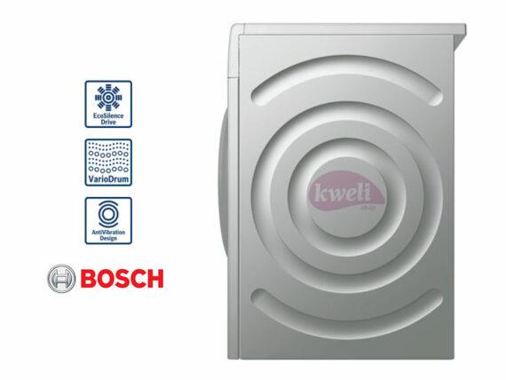 BOSCH 8kg Front Load Washing Machine WAT2846XKE; Serie | 6 Washing Machine, EcoSilence Drive™, VarioDrum,  ActiveWater Plus, ActiveVibration Design 1400rpm, Silver inox Front Load Washers