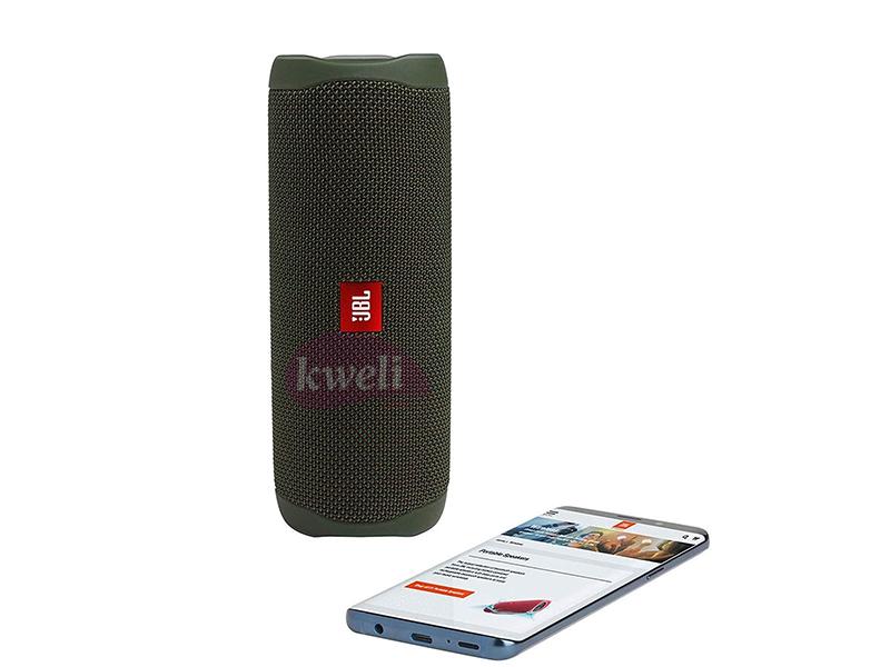 JBL FLIP 5 Bluetooth Portable Waterproof Speaker, 12hr playtime, Green Bluetooth Speakers