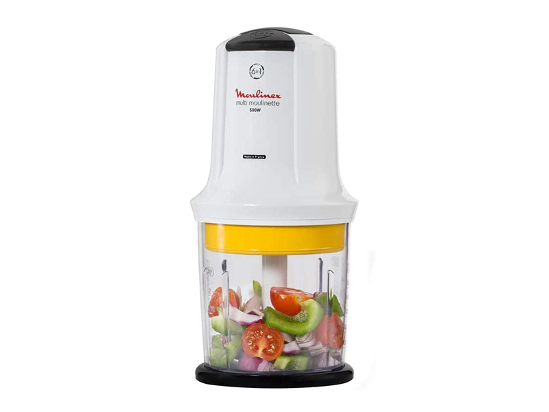 Moulinex Multi Moulinette Choppers AT723127; 6-in-1 Chopper, Mix Vegetables, Chop Herbs, Mince Meat, Crush Ice Blenders & Juicers Choppers