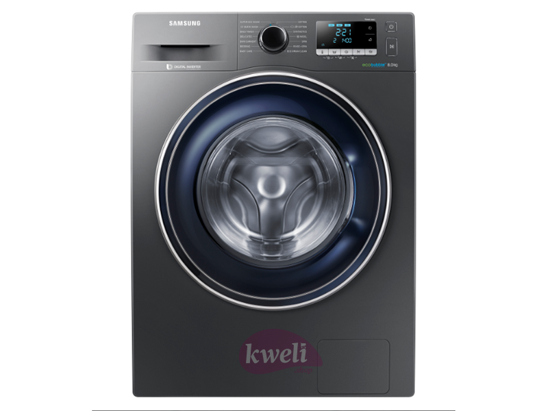 Samsung 9kg Washing Machine with Steam – WW90 TA046AX; 2020 Series 5 ecobubble™ Washing Machine, 1400rpm, Hygiene Steam, 15min QuickWash Front Load Washers