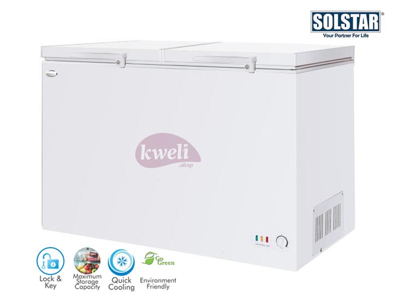 Solstar 580-liter Chest Freezer CF 580-SGLBSS; Sliding Glass Door, Lock and Key, LED Lighting Chest Freezers Deep Freezer