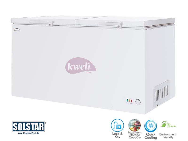 Solstar 680 liter Chest Freezer CF 680-SGLBSS, Sliding Glass Door, Lock and Key, LED Lighting Chest Freezers Deep Freezer