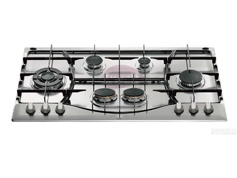 Ariston Built in Gas Hob, PH 961 TS/IX/A – 90cm, 6 Gas Burners, Auto Ignition Built-in Hobs