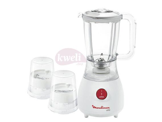 Moulinex Juice Blender with 2 mills LM2221BA – 350 watts, 1.25-liters Blenders Juice blenders