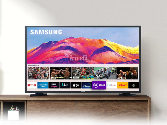 Samsung 32 inch HD Smart TV UA32T5300; HDR, Apps by Tizen™, Remote Access, Free-to-air, WiFi, Mirroring, USB, HDMI, AV, Alexa & Google Assistant Samsung TVs