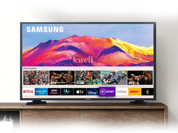 Samsung 40 inch Full HD Smart TV UA40T5300; HDR, Apps by Tizen™, Remote Access, Free-to-air, Bluetooth, WiFi, Mirroring, USB, HDMI, AV, Alexa & Google Assistant Samsung TVs TVs with Netflix