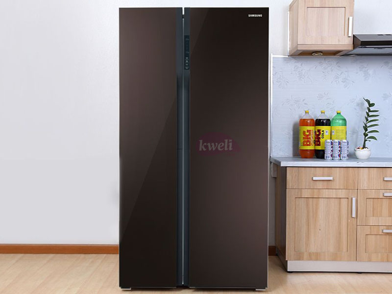 Samsung 538-liter Side By Side Refrigerator RS552NRUA9M - Twin Cooling Plus, Frost Free, Wine Mirror Glass