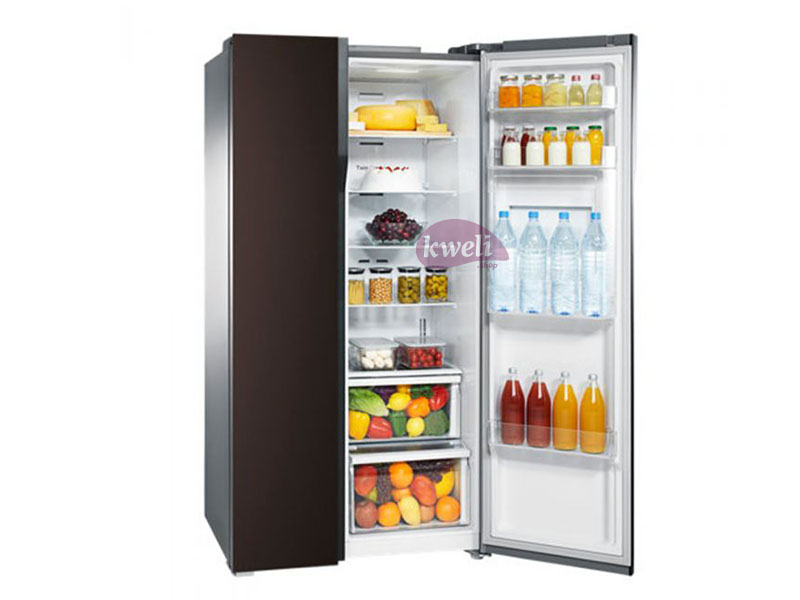 Samsung 538-liter Side By Side Refrigerator RS552NRUA9M – Twin Cooling Plus, Frost Free, Wine Mirror Glass Samsung Refrigerators