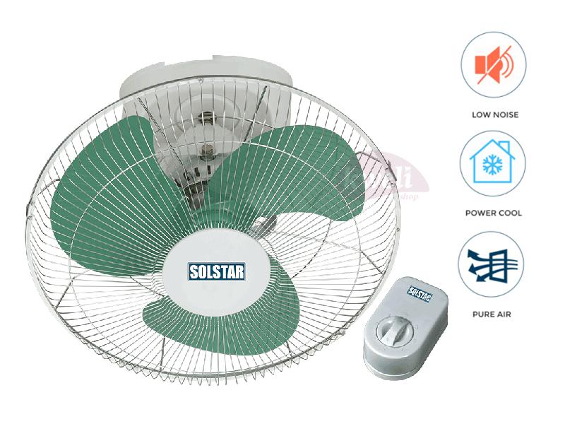 Solstar Orbit Fan 16cm FB 1661-GR SS; Low Noise, Ceiling Fan Orbit Ceiling Fans