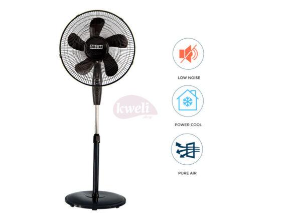 Solstar Stand Fan 16 inch FS 1627U-BK SS – Low Noise, Free Standing Fan Free-standing fans