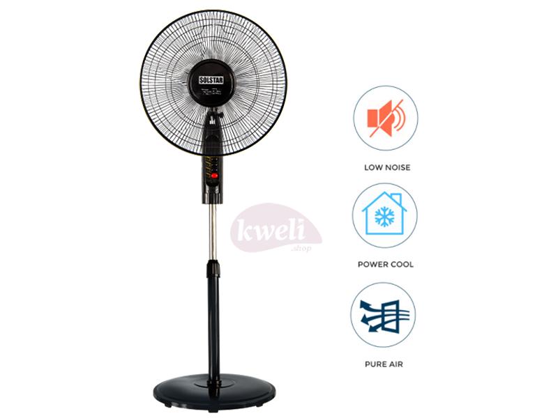 Solstar Stand Fan 18 inch FS 1830U-BK SS; Low Noise, Free Standing Fan Free-standing fans