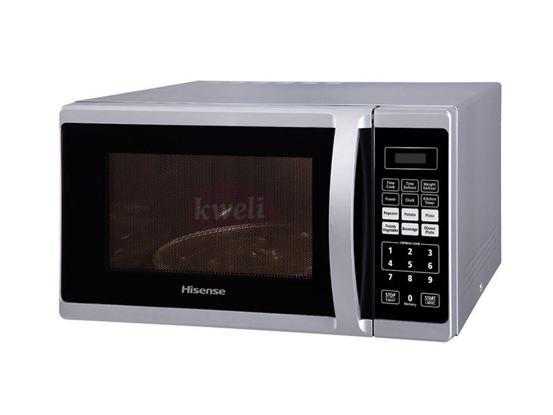 Hisense 28-liter Microwave H28MOMME; 900 watts, 6 auto menus, defrost, 10 power levels setting Microwave