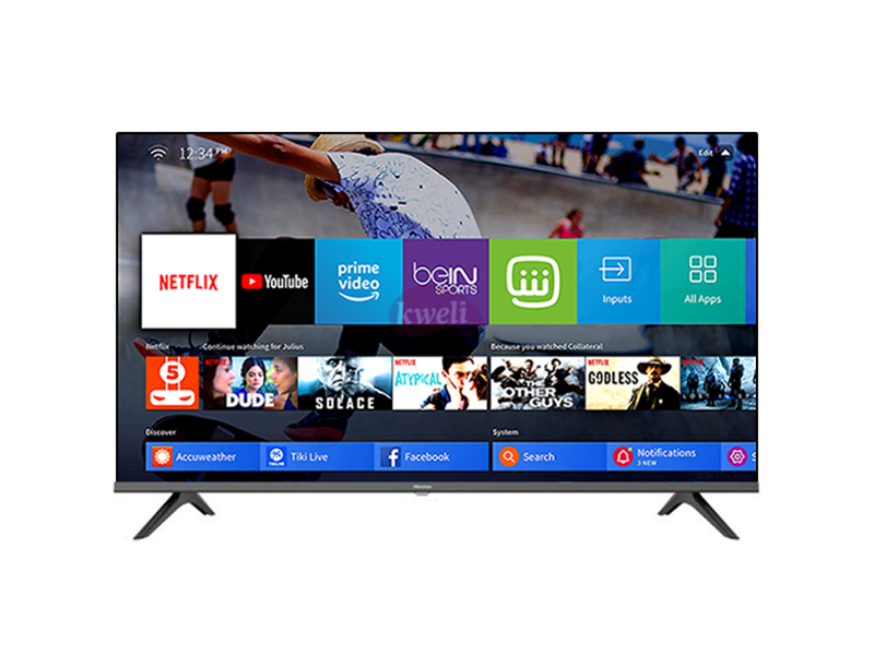 Hisense 40 inch Smart TV 40A6000FS – Full HD Vidaa Smart TV – Remote Now, Chromecast (Any View Cast), Built-in WiFi Receiver, HDMI, USB, Free-to-air Receiver (Frameless) Hisense TVs