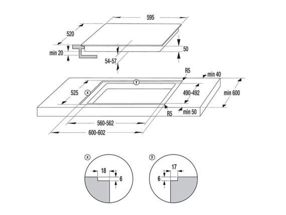 Hisense Ceramic Hob, 60cm Four Zone Built in Ceramic Hob E6431; Touch Control Built-in Hobs