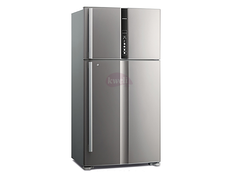 Hitachi 800-liter Refrigerator RV990PUN1KBSL – Double Door, Top Mount Frost Free Freezer, Dual Fan Cooling, Inverter Control, Touch Display – Brilliant Silver Double Door Fridges