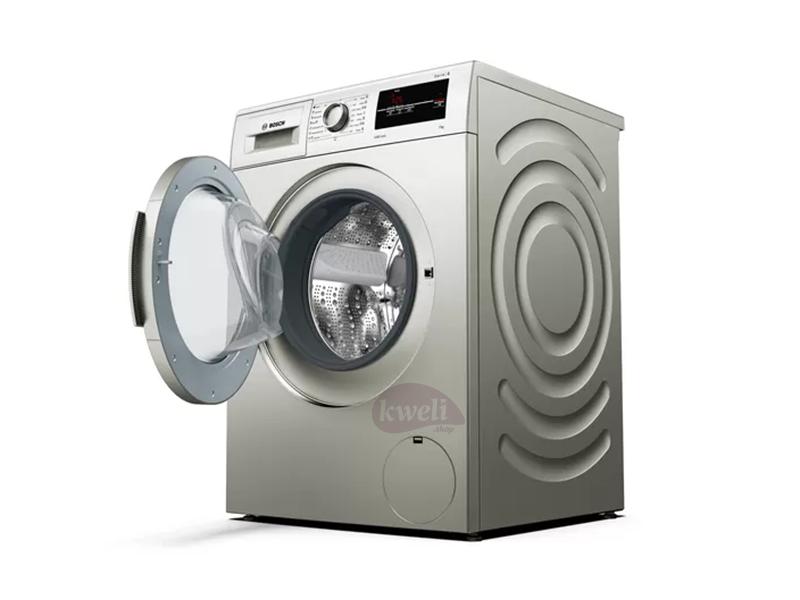 BOSCH 7kg Front Load Washing Machine WAJ2017SKE; Serie | 2 Washing Machine, Pre-Wash, VarioDrum, ActiveWater Plus, Reload (Add Items), ActiveVibration Design 1000rpm, Silver inox Front Load Washers