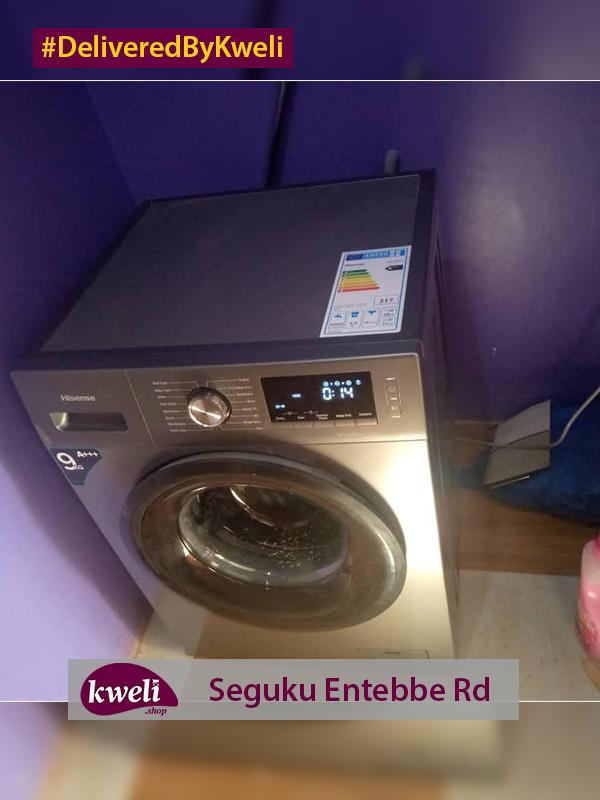 Hisense Washing Machine Delivered at Seguku Entebbe Road DeliveredByKweli