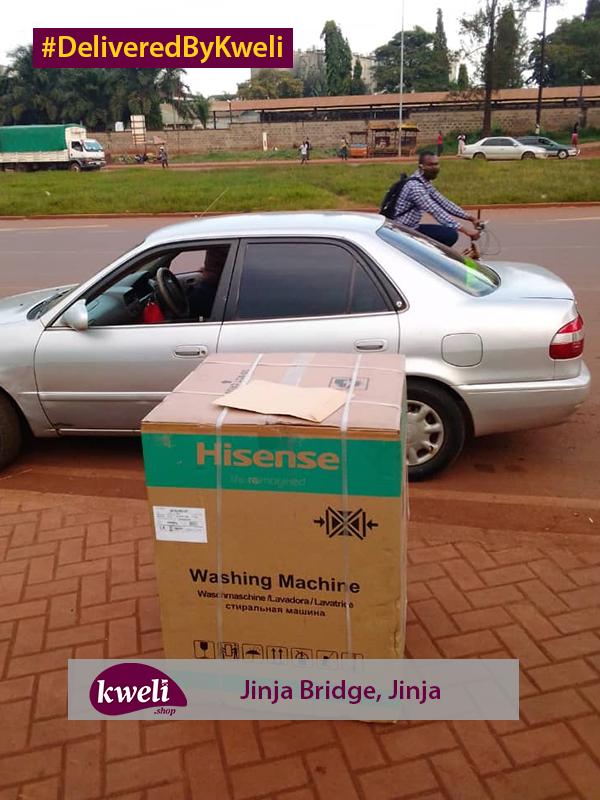 Washing machine delivered in Jinja DeliveredByKweli