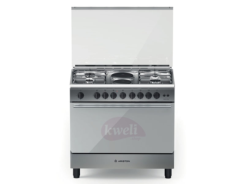 Ariston Cooker, 90cm 4 Gas +2 Electric Combo Cooker with Wide Gas Oven, Rotisserie – BAM940 Ariston Cookers and Ovens Ariston cooker