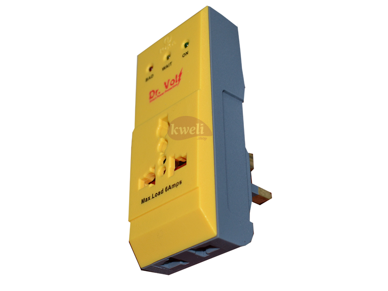Dr Volt Fridge Guard IQ-FP6UK – 6Amp, 170-255V; Power Surge Protector, Power Guard, Fridge Protector Power Surge Protectors