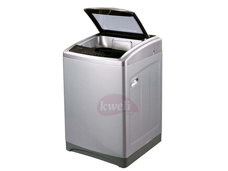 Hisense 16kg Top Load Washing Machine – WTQ1602T; Soft Closing Door, Auto Power off, Super Clean Top Load Washers Hisense Washing Machines in Uganda