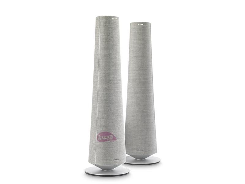 Harman Kardon Citation Towers (Pair) – Grey; Smart Floorstanding Speakers, Google Assistant, 5.1-Channel, Premium Design, Bluetooth, WiFi Smart Audio Systems