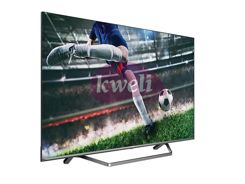 Hisense 50 Inch 4K ULED Smart TV 50U7QF; Frameless Quantum Dot Colour, Dolby Atmos, Voice Control, Vidaa Smart TV, Bluetooth, HDMI, USB, Netflix and Youtube One Touch 4K ULED Smart TVs