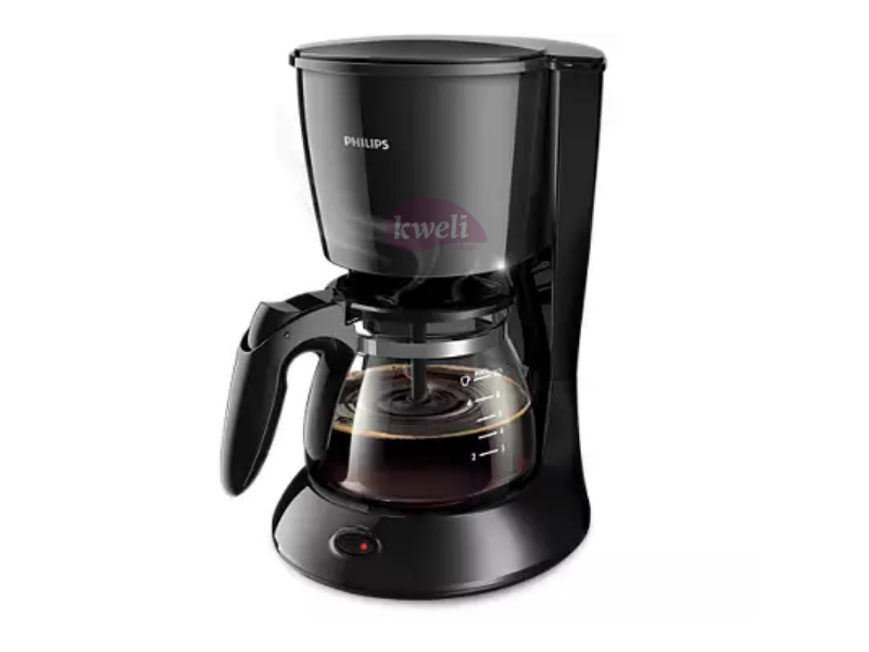 Philips Coffee Maker HD7432; 0.6 Liter, Glass Jug, Compact design, Aroma twister, Drip stop,  750watts, 2-7 Cups Coffee Makers